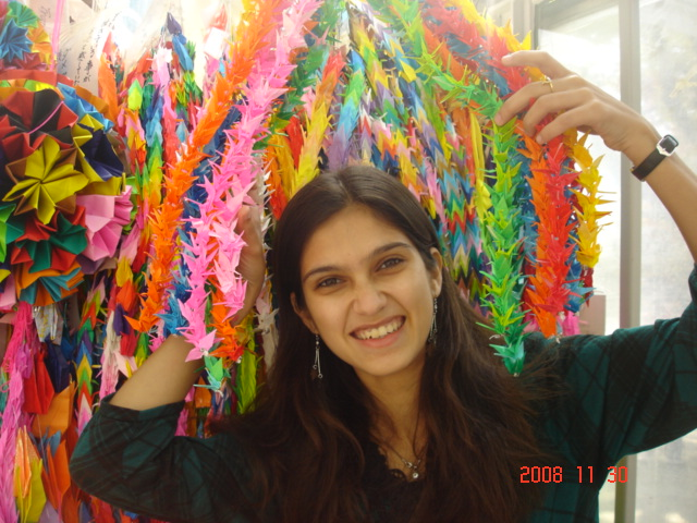 1000 paper cranes I made in Honor of all those who died in Hiroshima.