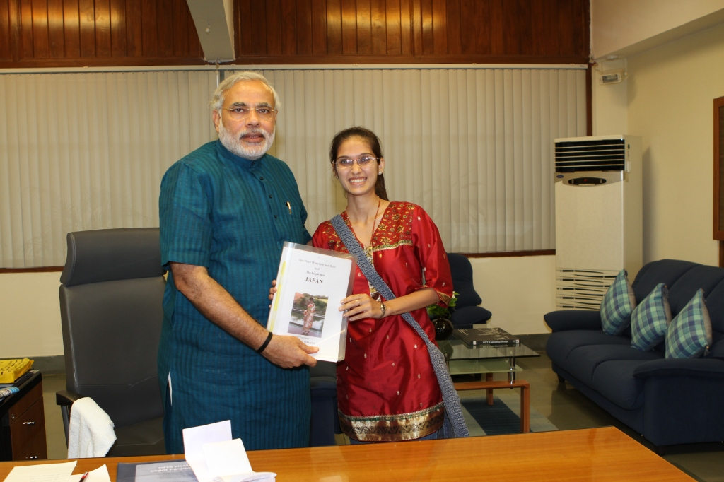 With Prime Minister of India sharing my experiences from visit to Japan
