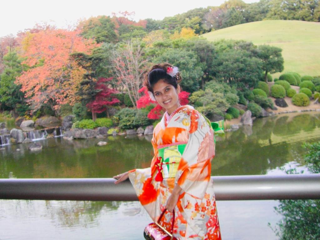 Me in Japanese Traditional Kimono visiting Kyoto, Japan, 2008