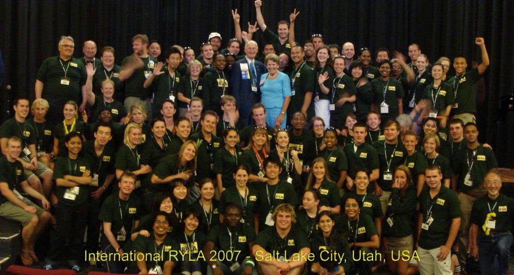 2007 International RYLA Team..I am in the first sitting row